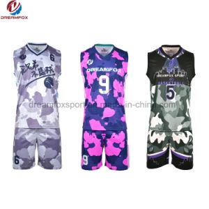 9127e2f14 Basketball Uniform Design Camo Printing Basketball Jersey Logo Design with  Sublimation
