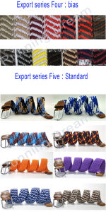 B23 New Pattern 39-Colors Stretch Braided Elastic Canvas Belt for Man and Woman pictures & photos