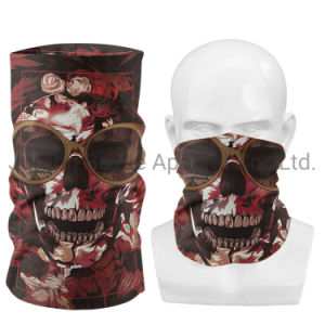 Wholesale Good Quality Fashion Blank Sublimation Custom Seamless Skull Face Cover Neck Gaiter Facemask Bandana for Men Women