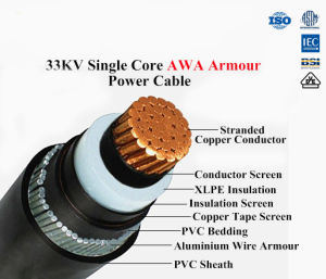 Copper/Aluminum XLPE Insulated PVC Sheathed Power Cable Rated Voltage up to 35kv pictures & photos
