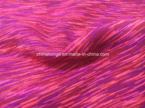 Space-Dye Yarn P/Sp 92/8, 240GSM, Functional Brushed Knitting Fabric for Sport pictures & photos