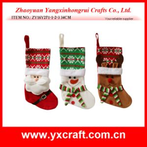 Christmas Decoration (ZY16Y271-1-2-3) Christmas Stocking pictures & photos