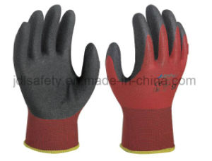 Polyamide Safety Work Glove with Sandy Nitrile Coating (N1558) pictures & photos