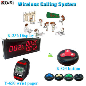 Excellent Electronic Pager Equipment K-336+Y-650+O3-B Restaurant Call Bell System pictures & photos
