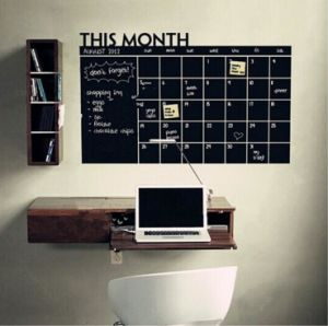 Diary Monthly Plan Form Washable Blackboard Wall Sticker Chalkboard pictures & photos