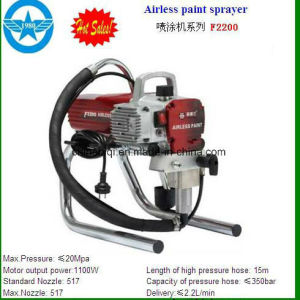 China Hot Sale Wagner Airless Paint Sprayer Metal Spray 1 8HP, 2 5HP