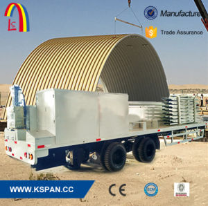 K Type Arch Roof Curving Steel Panel Roll Forming Machine pictures & photos