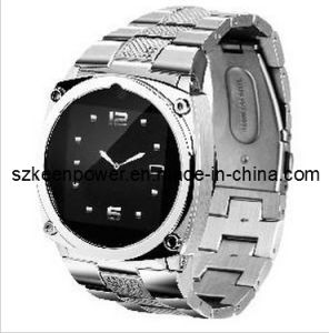 Stainless Wrist Watch Phone Quadband Touch Screen