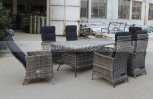 Mtc 242 Wicker Patio Rattan Outdoor Garden Furniture Reclinable Dining Chair  Set