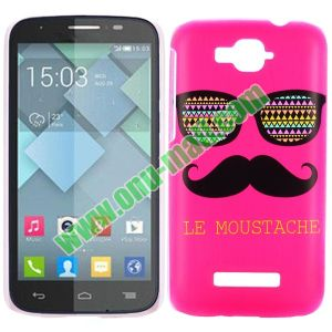 official photos 80f00 108fb Cheap Custom Cell Phone Case Cover for Alcatel One Touch Pop C7 (Rose  Moustache and Sunglass)