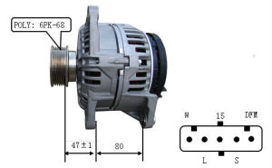 24V 70A Alternator for Bosch Iveco Lester 23527 0124555010 pictures & photos