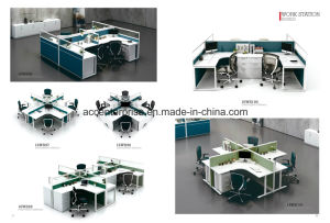 Cluster Glass Partition Office Workstations