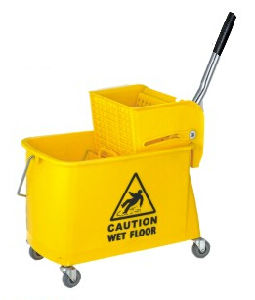 Easy Moving Single Mop Wringer Trolley (B-038) pictures & photos