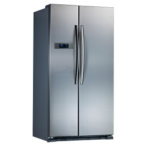18.9 Cu. Ft Side by Side Refrigerator with Sliver / White / Black