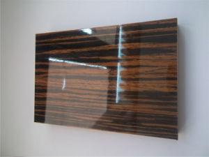 High Gloss Ebony Veneer MDF For Kitchen Furniture