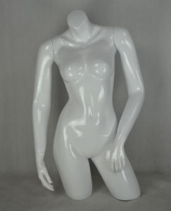 Glossy White Halfbody Female Mannequin for Garment Display pictures & photos