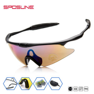 Prolight Wrap Around Cycling Google Custom Printed Logo Party Glasses Outdoor Sports Interchangeable Lens Sunglasses pictures & photos