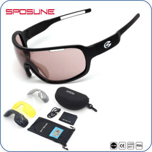 UV Block Light Weight Aathletes Interchangeable Sunglasses pictures & photos