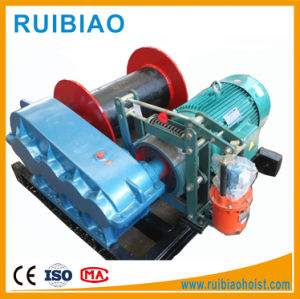 Small Electric Capstan Winch Construction Hoist Electric Worm Gear Winch pictures & photos