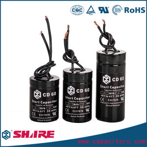 CD60 Motor Start Capacitor CD60 Aluminum Electrolytic Capacitor pictures & photos