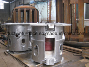 1 Ton Aluminum Shell Mechanical Tilt Medium Frequency Induction Furnace pictures & photos