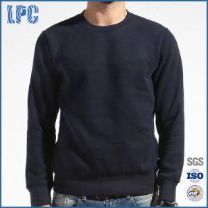 Men′s Pullover Crew Neck Sweatershirt in Navy Blue pictures & photos