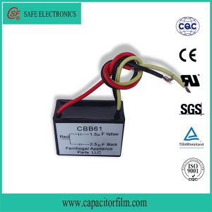 Cbb61 AC Motor Running and Starting BOPP Film Capacitor for Washing Machine pictures & photos