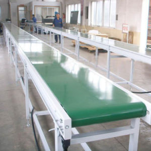 PVC PU Turning Belt Conveyor Food Grade Conveyor Assembly Line Conveyor pictures & photos
