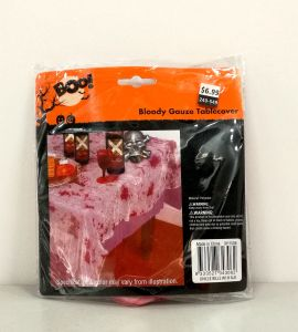 Halloween Polyester Bloody Tablecloth (LP016) pictures & photos