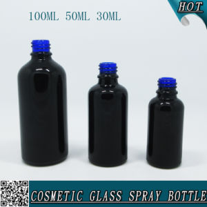 30ml 50ml 100ml Black Glass Spray Perfume Bottle with Black Mist Sprayer pictures & photos