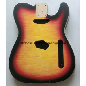 Gloss Finished Flamed Maple Top Alder Tele Guitar Body pictures & photos