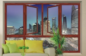 Jolihouse Customized Color Double Tempered Glass Aluminium Casement Window pictures & photos