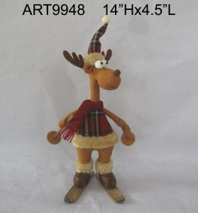 Christmas Decoration Standing Reindeer Woodland Gift pictures & photos