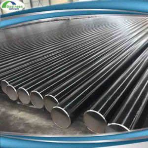 Mild Steel ASTM A53 BS1387 ERW Black Steel Pipes with Anti-Rusted Oil