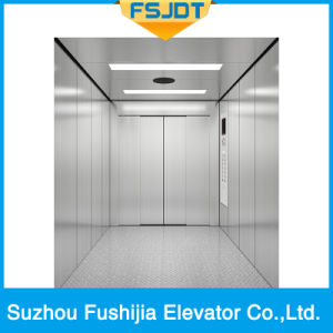 Capacity 3000kg Machine Roomless Freight Cargo Elevator with Single Entrance