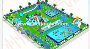 New Design Inflatable Water Park/ Attractive Amusement Park Customized