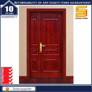 Teak Wood Panel Solid Wooden Main Door Design Double Door