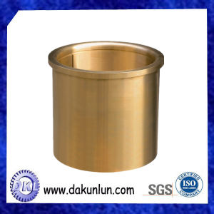 Manufacturing Custom CNC Turning Flanged Oil Grooved Brass Bushing
