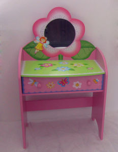 MDF Kids Dresser, Wooden Kids Dressing Table, Wood Kids Vanity Table