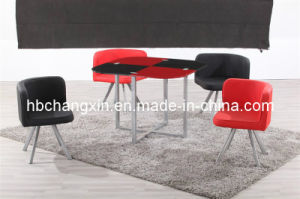 Hot Sell High Quality Modern Design Leather Dining Table pictures & photos