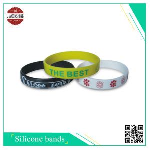 Silk-Screen Silicone Bracelet for Festival pictures & photos