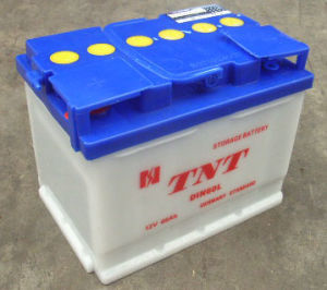 Dry Charge Battery Automoblie Battery Rechargeable Storage Battery (DIN60L) pictures & photos