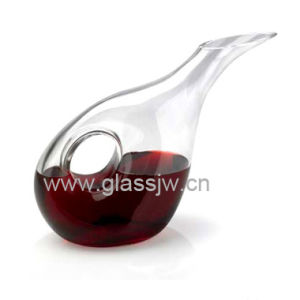Transparent Glass Wine Decanter, 1.2L Capacity, OEM Service Provided