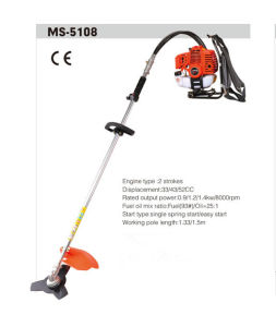 Grass Trimmer with Nylon Blade and Metal Blade