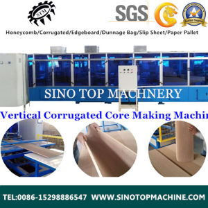 Vertical Corrugated Cellular Fiber Sheet Machine pictures & photos