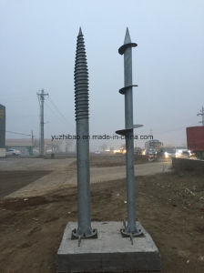Solar Energy Whorl Thread Pile Screw, HDG Ground Screw, Ground Anchor, Ground Screw