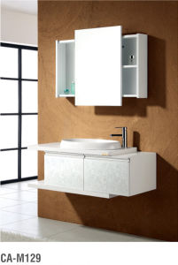 White PVC Modern Bathroom Cabinet pictures & photos