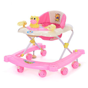Silicon Wheels Pretty Baby Walker with Lovely Toys New Style Baby Walker pictures & photos