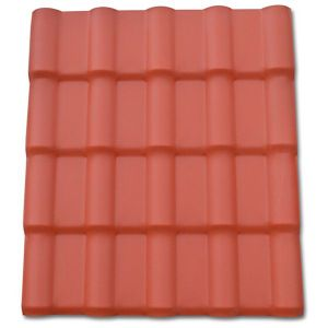Lightweight and Durable Glazed Tile Plastic Roof Panels pictures & photos
