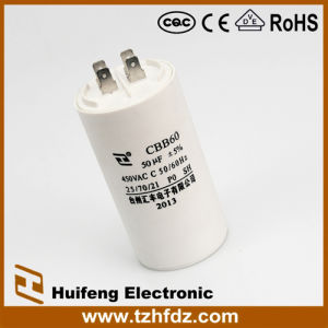 Cbb60 AC Motor Capacitor with Pin Series 450V 50UF pictures & photos